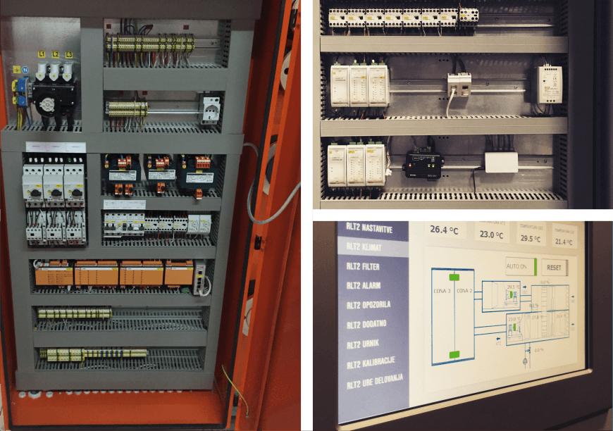Nadgradnja elektro omarice, regulacije in krmiljenja - Posodobitev avtomatizacije klima naprave iz leta 1996