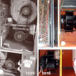 Predelava starih klima naprav iz 1996 na novo stanje 2016 - Menjava starih jermenskih ventilatorjev z novimi EC ventilatorji