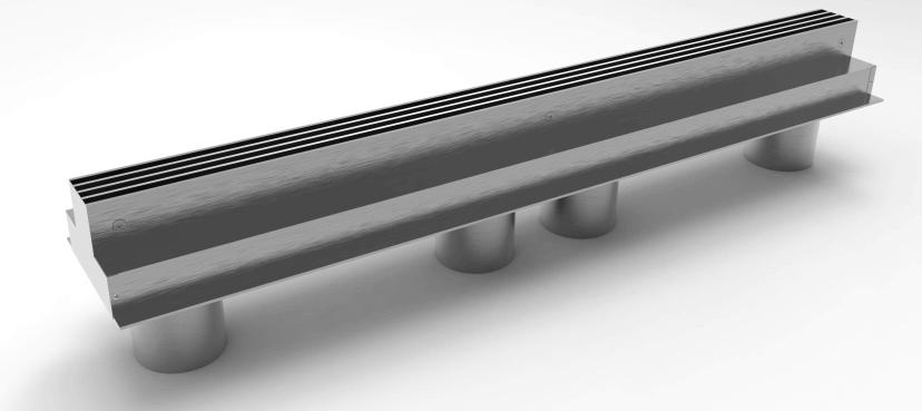 Talni Linijski difuzor - Menerga - 2