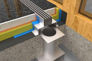 Linijski difuzorji detajli - bazen - Menerga - 2