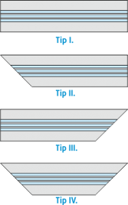 Linijski difuzorji - stranice - ravno - kot 45