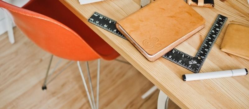 ruler-desk-working